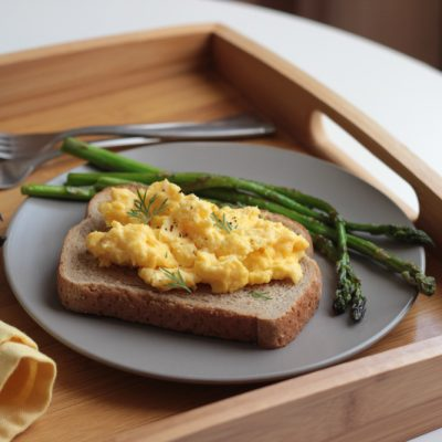 Goats cheese and scrambled eggs - chris dips