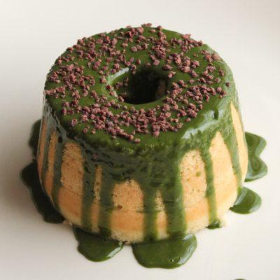 Matcha Glazed Vanilla Cakes - Good Food