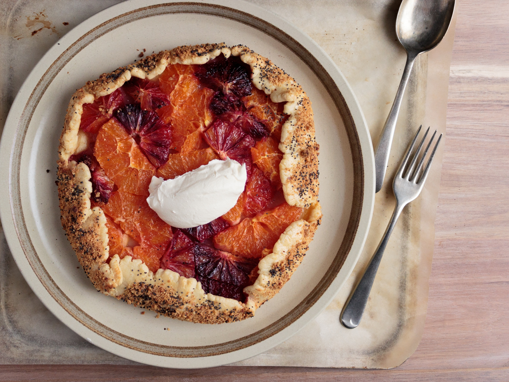 Blood orange galette